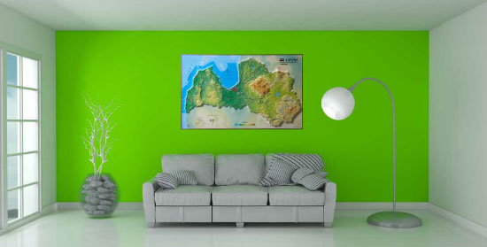 Large format and Wall 3D Maps